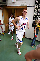 Kevin Laue plays basketball for the Fork Union Military Academy located in Fork Union, VA. Laue was born with no left hand, but has become a starting varsity player. Laue recently became one of the most inspirational stories in college basketball when he received a Division-I scholarship after signing a national letter of intent with Manhattan College. Photo/ Andrew Shurtleff