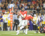 Ole Miss' Zack Stoudt (8) vs. LSU at Vaught-Hemingway Stadium in Oxford, Miss. on Saturday, November 19, 2011..