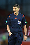 Aberdeen v St Johnstone...01.01.15   SPFL<br /> Referee Craig Thomson<br /> Picture by Graeme Hart.<br /> Copyright Perthshire Picture Agency<br /> Tel: 01738 623350  Mobile: 07990 594431