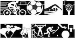 A variety of sports icons