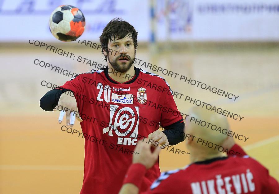 Rukomet-Handball<br /> Srbija v Rumunija-Prijateljski mec friendly match<br /> Momir Rnic<br /> Beograd, 28.12.2015.<br /> foto: Srdjan Stevanovic/Starsportphoto&copy;