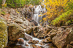 Hadlock Brook flows throughthe Waterfall Bridge in Acadia National Park, Maine, USA