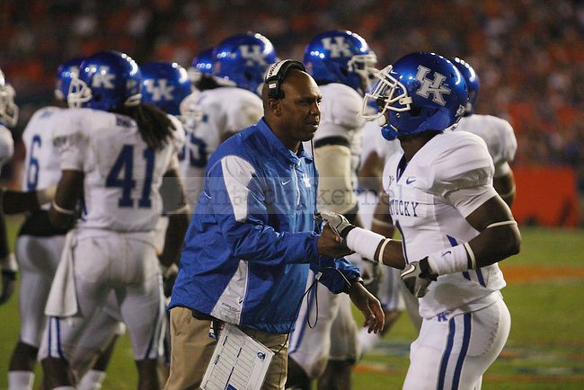 """in the second half of UK's loss to the Florida Gators at the """"Swamp"""" on Saturday, Sept. 25, 2010 Photo by Britney McIntosh   Staff"""