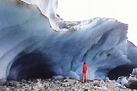 At 2000 meters above sea level, the low end of Glacier de Tré-la-Tête, Mont-Blanc Massif, France, 2011.