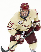 Bill Arnold (BC - 24) - The Boston College Eagles defeated the visiting Northeastern University Huskies 3-0 after a banner-raising ceremony for BC's 2012 national championship on Saturday, October 20, 2012, at Kelley Rink in Conte Forum in Chestnut Hill, Massachusetts.