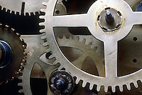 BRASS CLOCK GEARS<br /> (Variations Available)<br /> A Gear Is A Rotating Machine<br /> <br /> Showing the winding system
