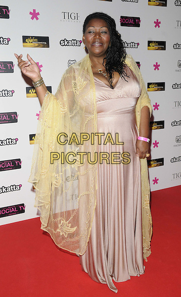 Lisa Scott-Lee.attended Social TV Awards 2013, BAFTA Headquarters, Piccadilly, London, England..March 27th, 2013.full length pink dress sleeveless hand on hip.CAP/CAN.©Can Nguyen/Capital Pictures.