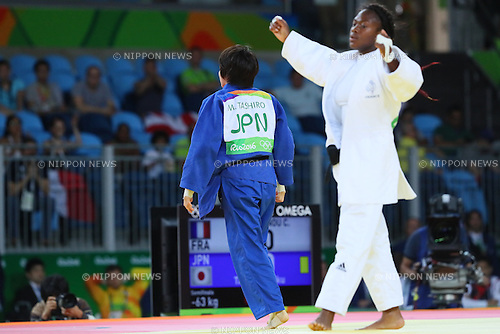 Miku Tashiro (JPN), <br /> AUGUST 9, 2016 - Judo : <br /> Women's -63kg Semi-final <br /> at Carioca Arena 2 <br /> during the Rio 2016 Olympic Games in Rio de Janeiro, Brazil. <br /> (Photo by YUTAKA/AFLO SPORT)