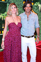 PACIFIC PALISADES, CA, USA - OCTOBER 11: Delfina Blaquier, Nacho Figueras arrive at the 5th Annual Veuve Clicquot Polo Classic held at Will Rogers State Historic Park on October 11, 2014 in Pacific Palisades, California, United States. (Photo by Xavier Collin/Celebrity Monitor)