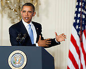 United States President Barack Obama makes remarks in the East Room of the White House in Washington, D.C. calling on Congress to return powers that would allow him to reform Executive Branch agencies of the U.S. Government..Credit: Ron Sachs / CNP