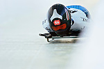 18 November 2005: Eiko Nakayama of Japan slides down the track to take 12th place at the 2005 FIBT World Cup Women's Skeleton competition at the Verizon Sports Complex, in Lake Placid, NY. Mandatory Photo Credit: Ed Wolfstein.