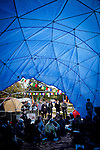 "Students attend a teach-in at ""the Dome"" on the UC Davis quad, November 28, 2011."