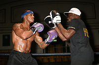 Boxer Anthony Yarde during an Open Workout at York Hall on 17th May 2017