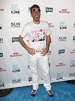 Perez Hilton.Bravo's Andy Cohen's Book Release Party For &quot;Most Talkative: Stories From The Front Lines Of Pop Held at SUR Lounge, West Hollywood, California, USA..May 14th, 2012.full length pink black white print top trousers mouth open smiling sunglasses shades .CAP/ADM/KB.&copy;Kevan Brooks/AdMedia/Capital Pictures.