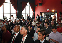WASHINGTON, DC-JULY 10,2012:  Attendees during a D.C. United ownership press conference at the POV Lounge in the W Hotel, Washington, DC.
