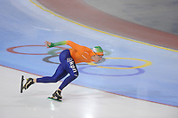 SCHAATSEN: SALT LAKE CITY: Utah Olympic Oval, 14-11-2013, Essent ISU World Cup, training, Sjoerd de Vries (NED), ©foto Martin de Jong