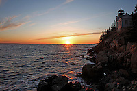 Sunset at Bass Harbor Head Light  #LH40