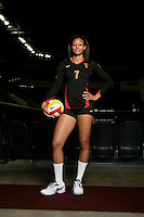 10 August 2010:   #7 Alex Jupiter OH on the Pac-10 NCAA College Women's Volleyball team for the USC Trojans Women of Troy photographed at the Galen Center on Campus in Southern California. .Images are for Personal use only.  No Model Release, No Property Release, No Commercial 3rd Party use. .Photo Credit should read: &copy;2010ShellyCastellano.com