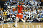 20 February 2016: Miami's Ja'Quan Newton. The University of North Carolina Tar Heels hosted the University of Miami Hurricanes at the Dean E. Smith Center in Chapel Hill, North Carolina in a 2015-16 NCAA Division I Men's Basketball game. UNC won the game 96-71.
