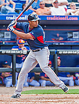 8 March 2015: Boston Red Sox infielder Xander Bogaerts in Spring Training action against the New York Mets at Tradition Field in Port St. Lucie, Florida. The Mets fell to the Red Sox 6-3 in Grapefruit League play. Mandatory Credit: Ed Wolfstein Photo *** RAW (NEF) Image File Available ***