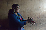 Arcadia Ventura makes tortillas in her home in San Jose la Frontera, a small Mam-speaking Maya village in Comitancillo, Guatemala.