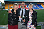 St Johnstone Player of the Year Awards 2014-15.....16.05.15<br /> Carol Burke and Susie Millar present the Jailer Tours Player of the Year Award to Chris Millar<br /> Picture by Graeme Hart.<br /> Copyright Perthshire Picture Agency<br /> Tel: 01738 623350  Mobile: 07990 594431