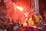 2013 - FRANCOIS GABART & ARMEL LE CLEAC'H ARRIVALS - VENDEE GLOBE - LES SABLES D'OLONNE
