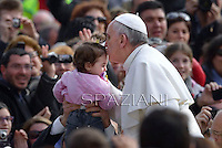 Pope Francis during his weekly general audience in St. Peter square at the Vatican, Wednesday. 3 April 2013