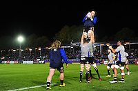 Bath Rugby forwards practise their lineout. European Rugby Challenge Cup match, between Bath Rugby and Bristol Rugby on October 20, 2016 at the Recreation Ground in Bath, England. Photo by: Patrick Khachfe / Onside Images