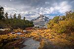 Banner Peak at Thousand island lake in Ansel Adams Wilderness, CA