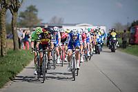 Tom Boonen (BEL/Quick-Step Floors) &amp; Philippe Gilbert (BEL/Quick Step floors) set the pace in the leaders group<br /> <br /> 101th Ronde Van Vlaanderen 2017 (1.UWT)<br /> 1day race: Antwerp &rsaquo; Oudenaarde - BEL (260km)