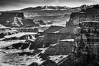 Shafer Canyon and the La Sal mountains from Canyonlands National Park.