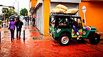 A car used ti sell coffee is seen in a street in Bogota, Colombia. 29/02/2012.  Photo by Eduardo Munoz Alvarez / VIEWpress.