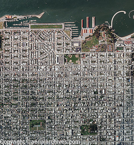 aerial photograph Marina District San Francisco, California