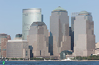 The buildings of the World Financial Center as seen from Liberty State Park, New Jersey