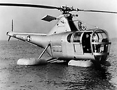 """The H-5 """"Dragon Fly"""", originally designated the R-5 (H for Helicopter; R for Rotorcraft), was designed to provide a helicopter having greater useful load, endurance, speed, and service ceiling than the R-4. The first XR-5 of four ordered made its initial flight on August 18, 1943. In March 1944, the United Stares Army Air Force (AAF) ordered 26 YR-5As for service testing, and in February 1945, the first YR-5A was delivered.   During its service life, the H-5 was used for rescue and mercy missions throughout the world. It gained its greatest fame, however, during the Korean War when it was called upon repeatedly to rescue United Nations' pilots shot down behind enemy lines and to evacuate wounded personnel from frontline areas.   More than 300 H-5s had been built by the time production was halted in 1951..Credit: U.S. Air Force via CNP"""