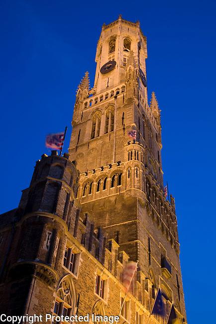 Belfort, Belfry, Markt Place - Market Square, Bruges, Belgium, Europe