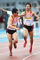 (L to R) Yuzo Kanemaru (JPN), Yusuke Ishizuka (JPN), .MAY 6, 2012 - Athletics : .SEIKO Golden Grand Prix in Kawasaki, Men's 4400m Relay .at Kawasaki Todoroki Stadium, Kanagawa, Japan. .(Photo by Daiju Kitamura/AFLO SPORT) [1045]