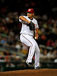 21 August 2009: Washington Nationals' pitcher Ron Villone on the mound in relief against the Milwaukee Brewers at Nationals Park in Washington, DC. The Nationals fell to the Brewers 7-3, in the first game of their four-game series. Mandatory Credit: Ed Wolfstein Photo