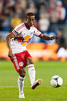 Roy Miller (7) of the New York Red Bulls. Sporting Kansas City defeated the New York Red Bulls 1-0 during a Major League Soccer (MLS) match at Red Bull Arena in Harrison, NJ, on April 17, 2013.