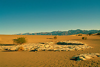 Death Valley National Park, California, CA, USA - Mesquite Flat and Sand Dunes, and Funeral Mountains near Stovepipe Wells at Sunrise