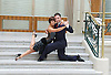 Dance Til Dawn <br /> in the iconic Waldorf Hilton hotel's palm Court <br /> London, Great Britain <br /> Press photocall<br /> 15th September 2014 <br /> <br /> Vincent Simone<br /> &amp;<br /> Flavia Cacace <br /> <br /> Photograph by Elliott Franks <br /> Image licensed to Elliott Franks Photography Services