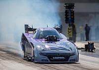 Sep 16, 2016; Concord, NC, USA; NHRA funny car driver Jack Beckman during qualifying for the Carolina Nationals at zMax Dragway. Mandatory Credit: Mark J. Rebilas-USA TODAY Sports