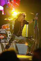 Steven Tyler and Aerosmith perform at the Forum