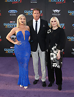 HOLLYWOOD, CA - April 19: Taylor Ann Hasselhoff, David Hasselhoff, Hayley Hasselhoff, At Premiere Of Disney And Marvel's &quot;Guardians Of The Galaxy Vol. 2&quot; At The Dolby Theatre  In California on April 19, 2017. <br /> CAP/MPI/FS<br /> &copy;FS/MPI/Capital Pictures