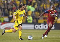 24 APRIL 2010:  Adam Moffat during the Real Salt Lake at Columbus Crew MLS soccer game in Columbus, Ohio. Columbus Crew defeated RSL 1-0 on April 24, 2010.