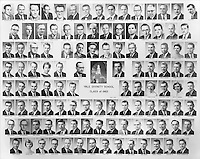 1962 Yale Divinity School Senior Portrait Class Group Photograph