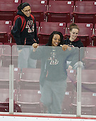 Amber Cooper (WBB) was among the athletes supporting the Eagles. - The Boston College Eagles defeated the visiting University of Maine Black Bears 5 to 1 on Sunday, October 6, 2013, in their Hockey East season opener at Kelley Rink in Conte Forum in Chestnut Hill, Massachusetts.