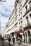 People strolling on Rue Saint-Louis en L'ile, Ile de la Cite, Paris, France