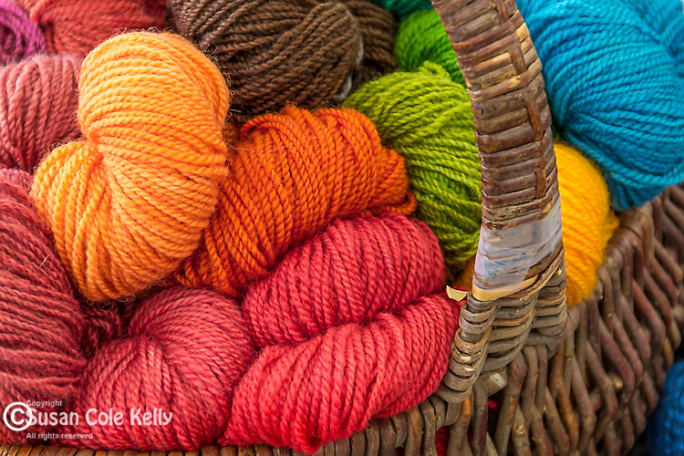 Beautiful yarns at the Common Ground Fair in Unity, Maine, USA